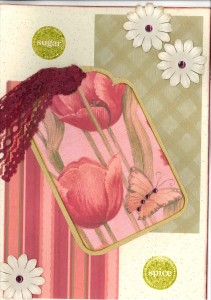 Sugar and spice baby card