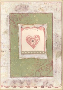 Vintage lace wedding card