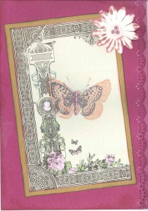Shabby chic baby card