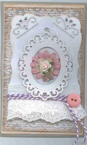 Card 1 from Spellbinders workshop