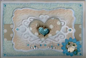 Heart card - Spellbinders workshop