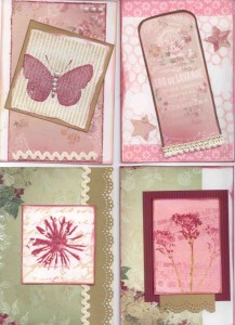 Cardmaking frenzy day 1 - Romantic Garden theme from Meg's Garden  (C6)