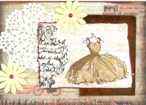 Sepia and lace wedding
